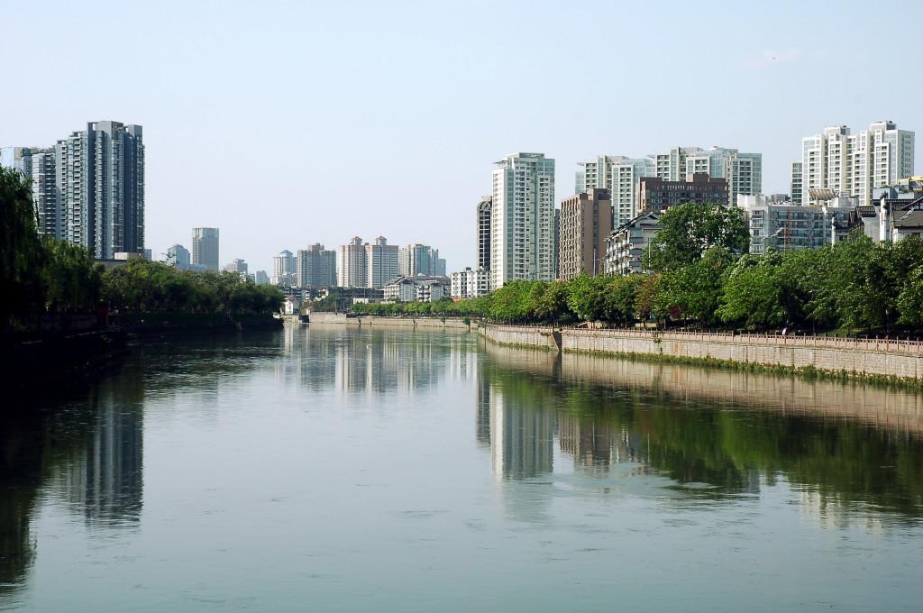 chengdu lake view, sichuan