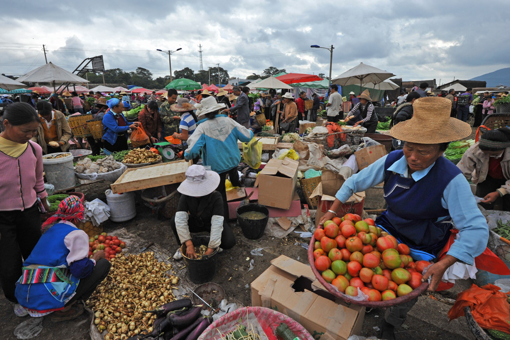 Farmers market, Dali Yunnan