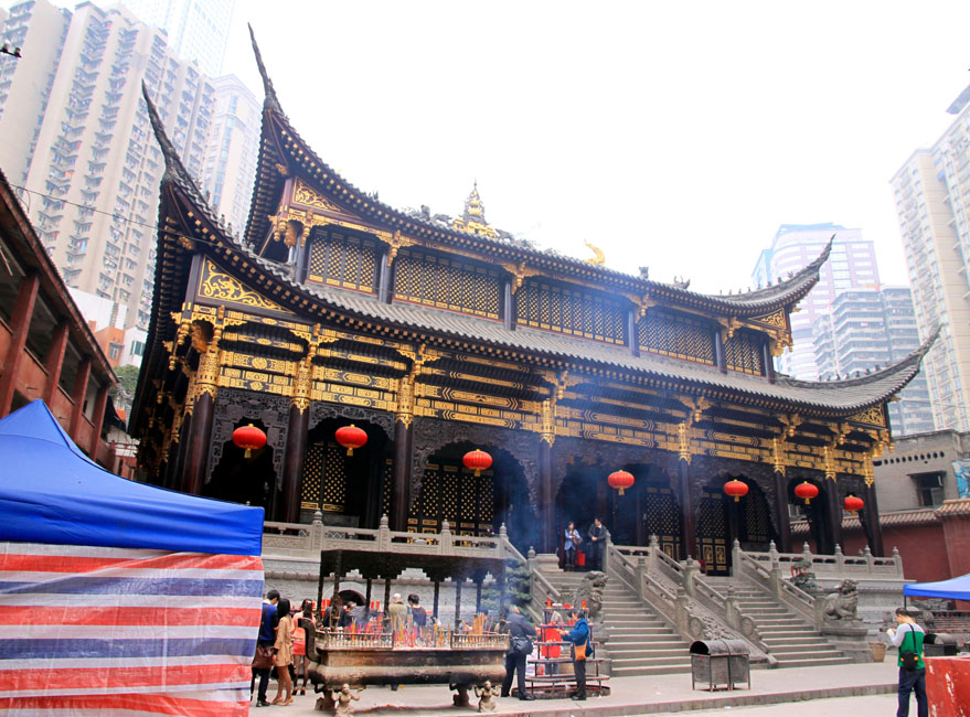 shutterstock_103967345 1850 Prints, The Arhat Buddhist Temple on March 18, 2012 in Chongqing