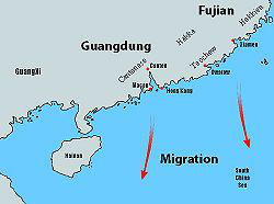 Map of Chinese Migration 1800-1949