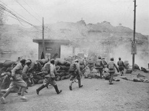 PLA fighting the Nationalists during the Chinese Civil War
