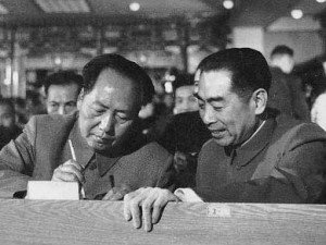 Mao and Zho Enlai at the 1954 National People's Congress